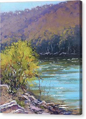 River Scenes Canvas Print - Lake  Lyell Reflections by Graham Gercken