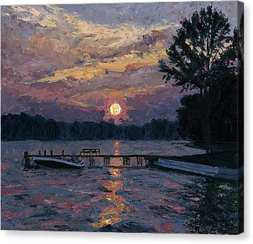 Lake Martin Sunset Canvas Print by Tyler Smith
