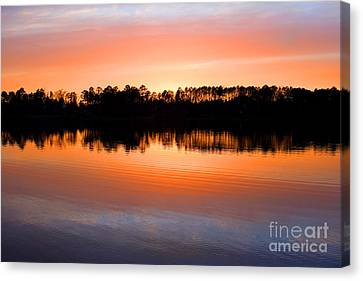 Lake Maumelle Sunset Canvas Print