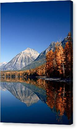 Lake Mcdonald Autumn Canvas Print