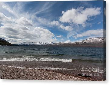 Lake Mcdonald Canvas Print by Carolyn Brown