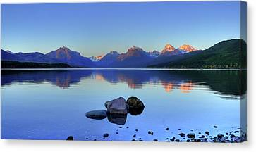Lake Mcdonald Canvas Print by Dave Hampton Photography