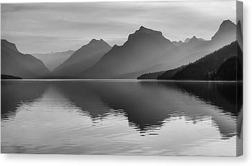 Canvas Print featuring the photograph Lake Mcdonald by Monte Stevens