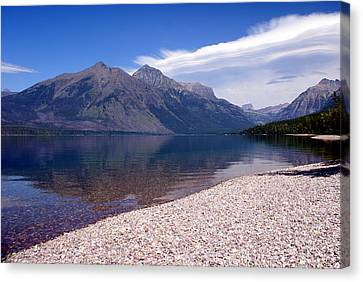 Lake Mcdonald Reflection Glacier National Park 4 Canvas Print by Marty Koch