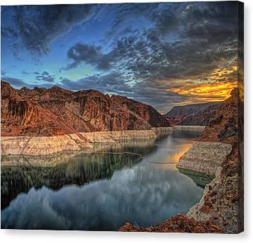 Lake Mead Sunrise Canvas Print