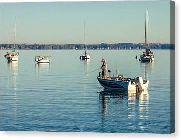 Lake Mendota Fishing Canvas Print by Todd Klassy