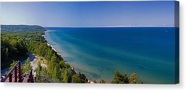 Lake Michigan From Arcadia Overlook Canvas Print