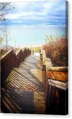 Canvas Print featuring the photograph Lake Michigan In The North by Michelle Calkins