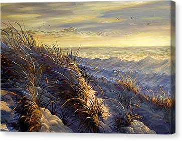 Lake Michigan In Winter Canvas Print