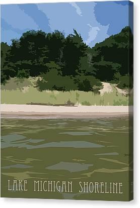 Beach Canvas Print - Lake Michigan Shoreline - Beach by Michelle Calkins