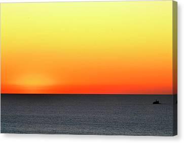 Lake Michigan Sunrise Canvas Print by Zawhaus Photography