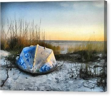 Tom Schmidt Canvas Print - Lake Michigan Sunset by Tom Schmidt