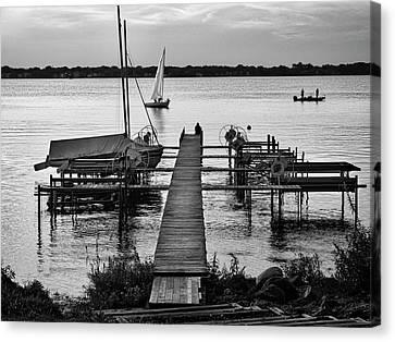 Lake Monona Jetty - Madison - Wisconsin Canvas Print by Steven Ralser