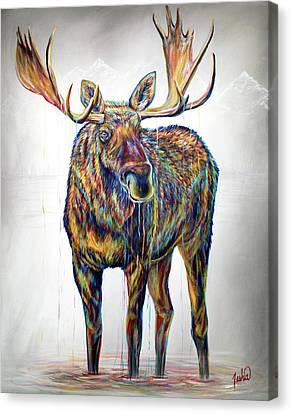 Lake Monster Canvas Print by Teshia Art