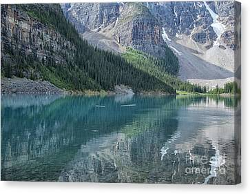 Canvas Print featuring the photograph Lake Moraine by Patricia Hofmeester