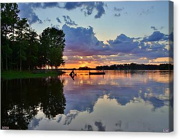 Lake Murray Sc Reflections Canvas Print