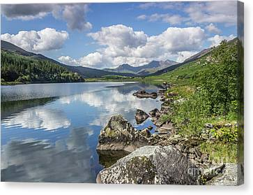 Canvas Print featuring the photograph Lake Mymbyr And Snowdon by Ian Mitchell