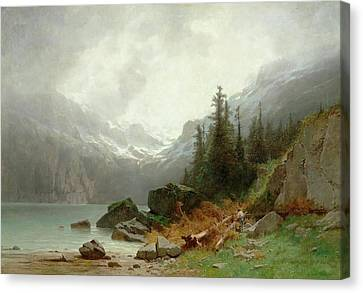 Lake Oeschinen Canvas Print