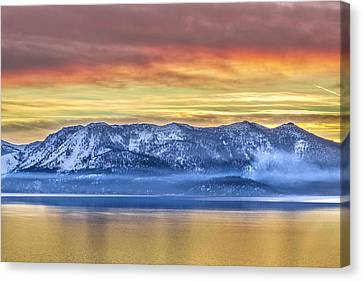 Lake Of Gold Canvas Print