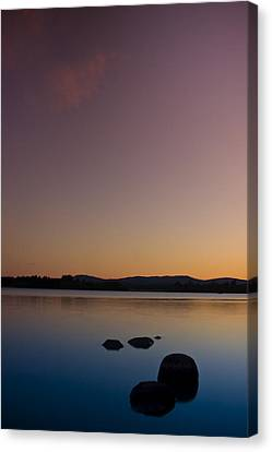Lake Of Menteith By Sunset Canvas Print by Gabor Pozsgai