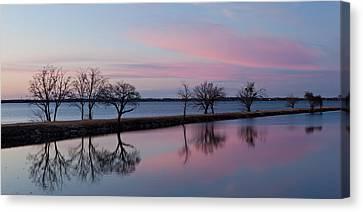 Lake Overholser Sunset Canvas Print