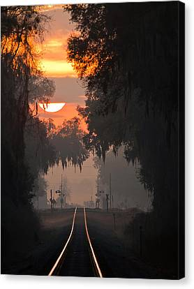 Lake Park Sunrise Canvas Print
