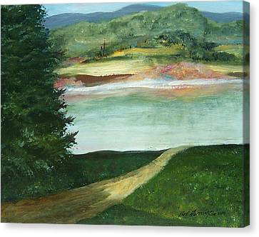 Lake Path Canvas Print