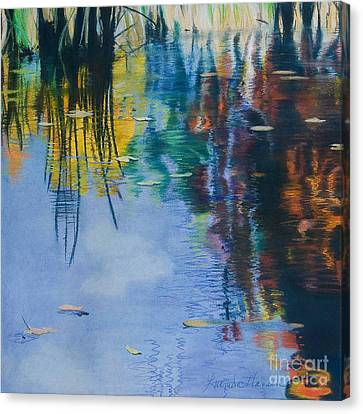 Lake Pearl Reflections Canvas Print by Lucinda  Hansen