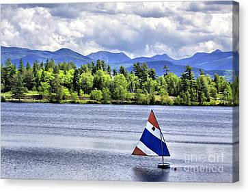 Lake Placid Canvas Print by Deborah Benoit