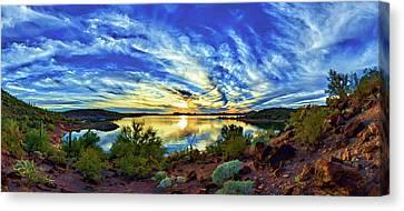 Lake Pleasant Sunset 3 Canvas Print