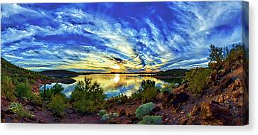 Lake Pleasant Sunset 3 Canvas Print by ABeautifulSky Photography