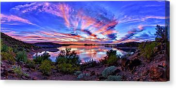 Large Canvas Print - Lake Pleasant Sunset 4 by ABeautifulSky Photography by Bill Caldwell