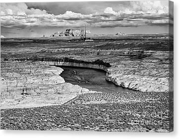 Lake Powell - Colorado River - Navajo Generating Station - Glen Canyon Page Northern Arizona Canvas Print by Silvio Ligutti