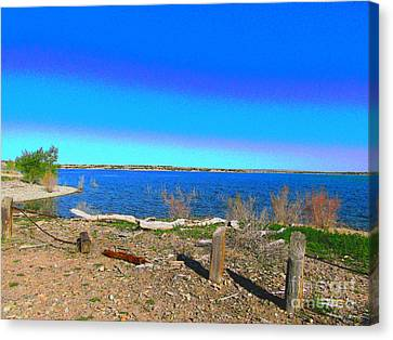 Lake Pueblo Painted Canvas Print