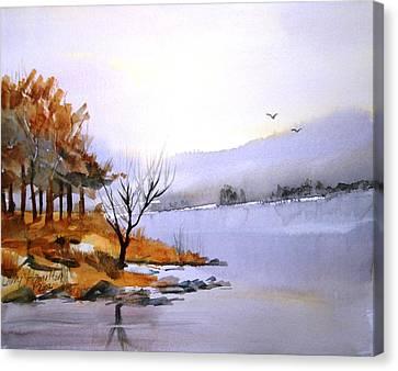 Lake Ransom Canvas Print by Larry Hamilton