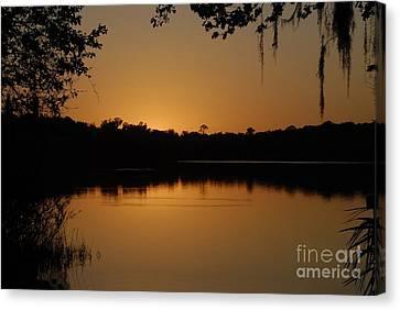 Lake Reflections Canvas Print by David Lee Thompson