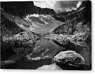 Canvas Print featuring the photograph Lake Reflections by Yuri Santin