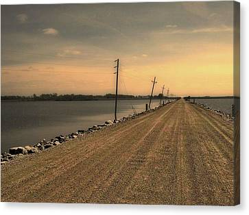 Lake Road Canvas Print