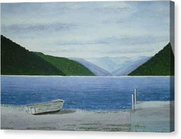 Lake Rotoroa, South Island, New Zealand Canvas Print by Peter Farrow