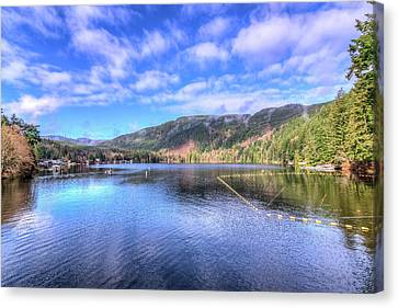 Canvas Print featuring the photograph Lake Samish by Spencer McDonald
