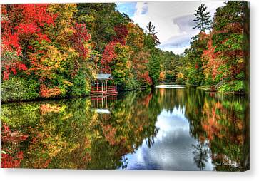 Lake Sequoyah Reflection Of Beauty Highlands North Carolina Art Canvas Print by Reid Callaway