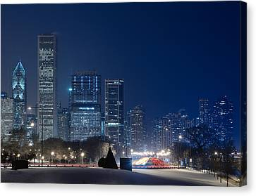 Lake Shore Drive Chicago Canvas Print by Steve Gadomski