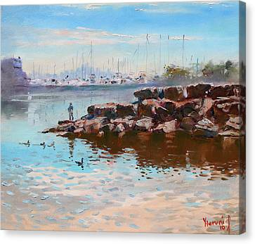 Lake Shore Mississauga Toronto  Canvas Print by Ylli Haruni