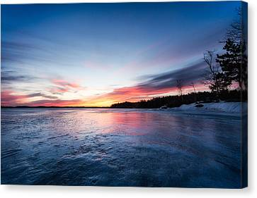 Canvas Print featuring the photograph Lake Shot by Robert Clifford