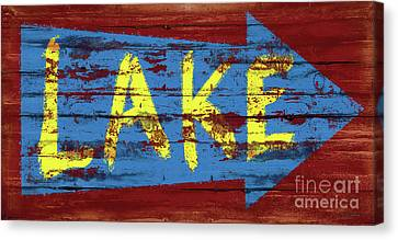 Canvas Print - Lake Sign by JQ Licensing