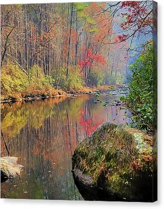 Canvas Print featuring the painting Chattooga Paradise by Steven Richardson