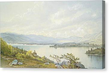 Lake Squam And The Sandwich Mountains Canvas Print