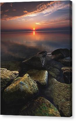 Lake St. Clair Sunstar Canvas Print by Cale Best