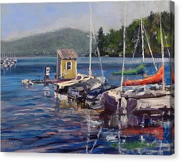 Lake Sunapee Boat Dock Canvas Print
