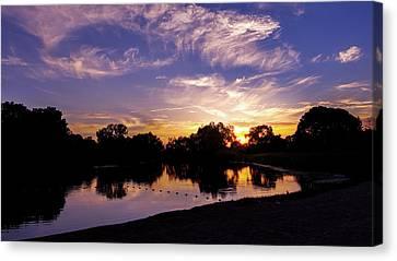 Lake Sunset  Canvas Print by Art Spectrum